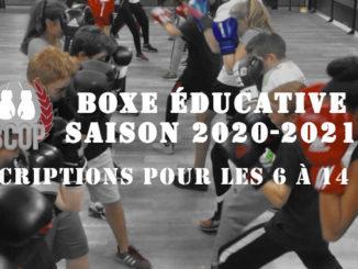 Inscription Boxe éducative 2020-2021