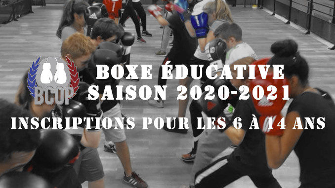 Inscription Boxe éducative 2020-2021
